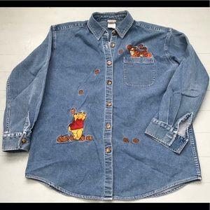 Winnie the Pooh Disney striped long sleeve shirt
